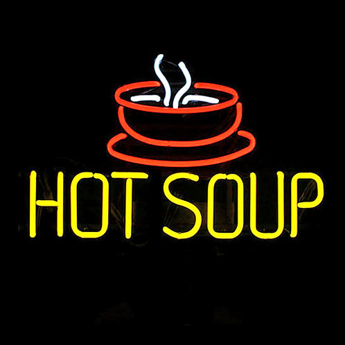 Hot Soup Suppenteller Neonreklame