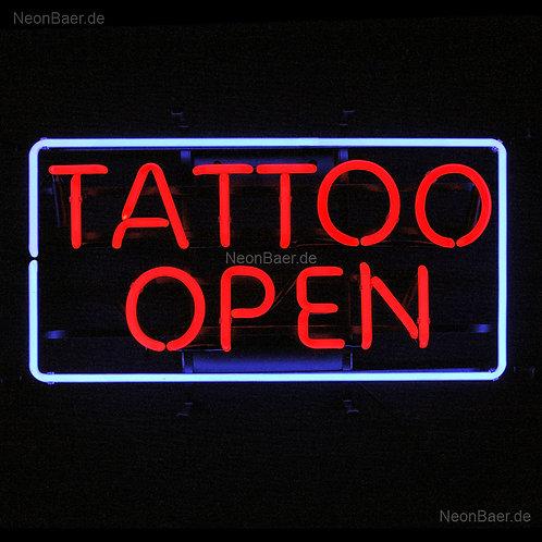 Tattoo Open Neonreklame Leuchtreklame