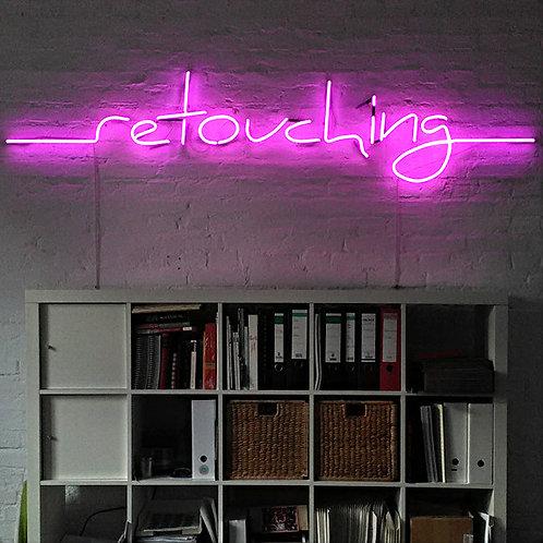 retouching Neonbuchstaben Neonschrift
