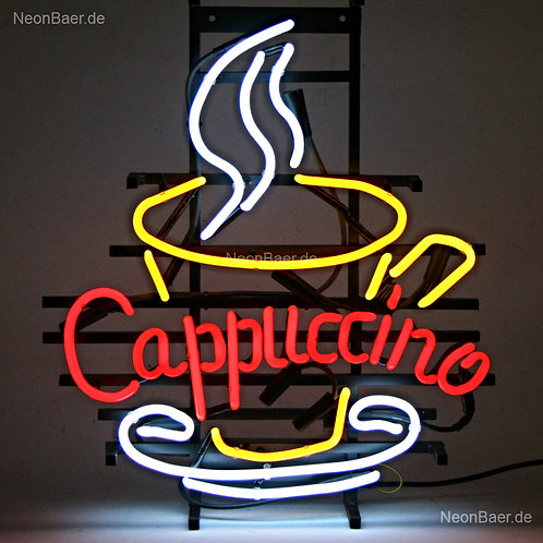 Cappuccino Tasse Neon Leuchtreklame