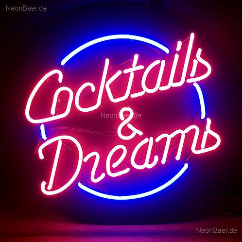Cocktails & Dreams Neon Sign Leuchtreklame