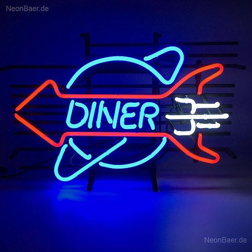 Diner Rakete Neon Leuchtreklame