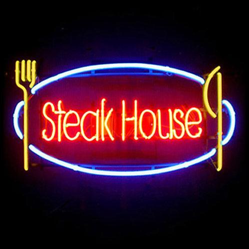 Steak House Neonreklame Leuchtwerbung