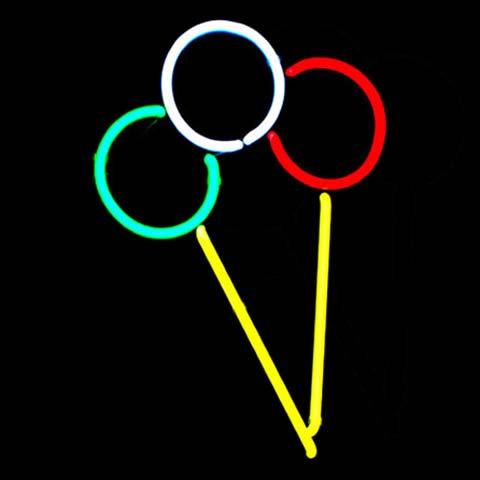 Eistüte Eis Neonreklame Leuchtreklame