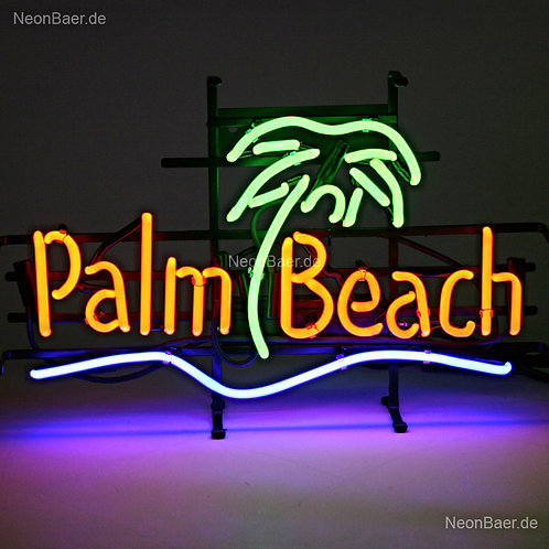 Palm Beach Palme Neonsign Neonglas Leuchtreklame
