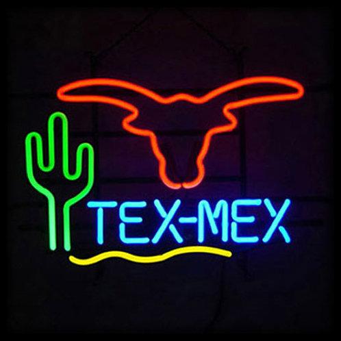 Text Mex Neonwerbung Neonglas Leuchtreklame