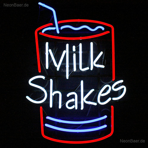 Milk Shakes Neonreklame Leuchtwerbung