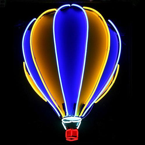Ballooning Heißluftballon Neonreklame Dresden
