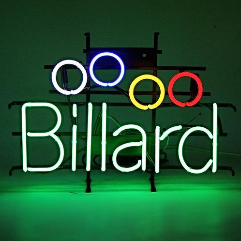 Billard Billardkugeln Neon Leuchtreklame