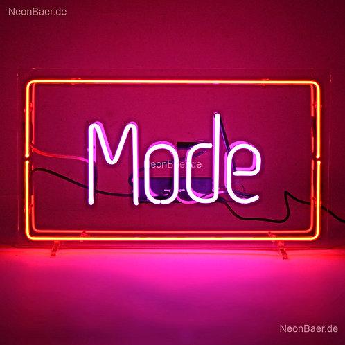 Mode Rahmen Neonwerbung Neonglas Leuchtreklame