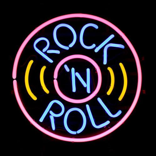 Rock N Roll Neonreklame Neonglas Leuchtreklame