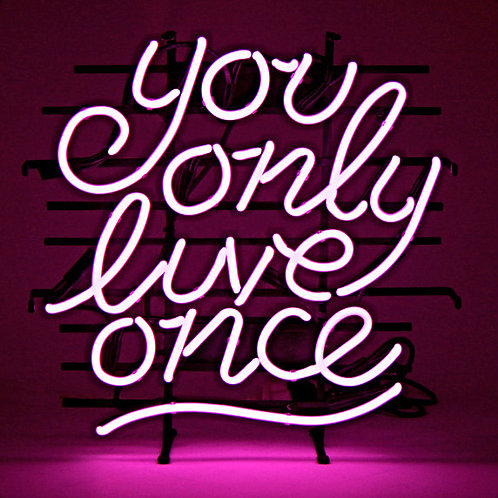 You Only Live Once Neonreklame Leuchtreklame
