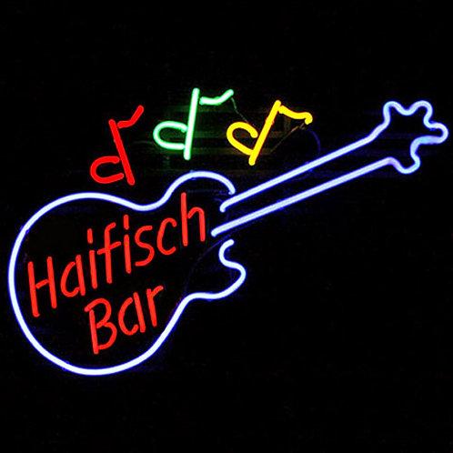 Haifisch Bar Gitarre Neonreklame