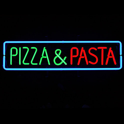Pizza & Pasta Rechteck Neonreklame