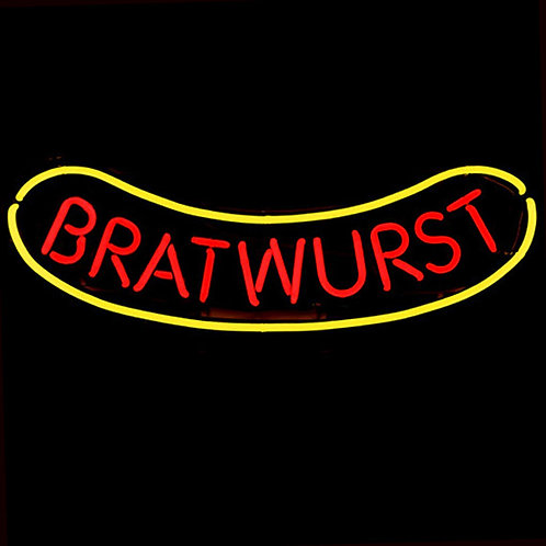 Bratwurst Neon Leuchtreklame