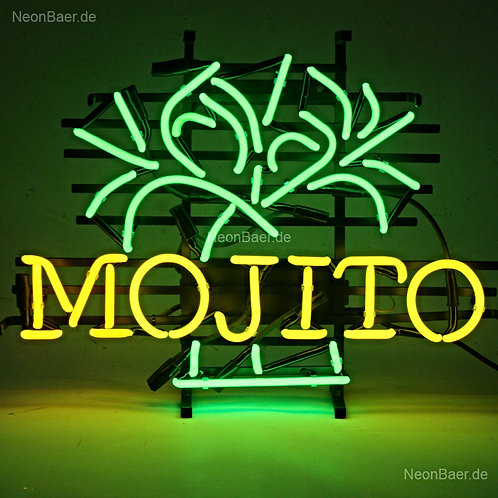 Mojito Palmen Neonreklame Leuchtreklame