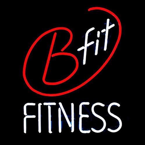 B-fit Fitnessstudio Neon Leuchtwerbung