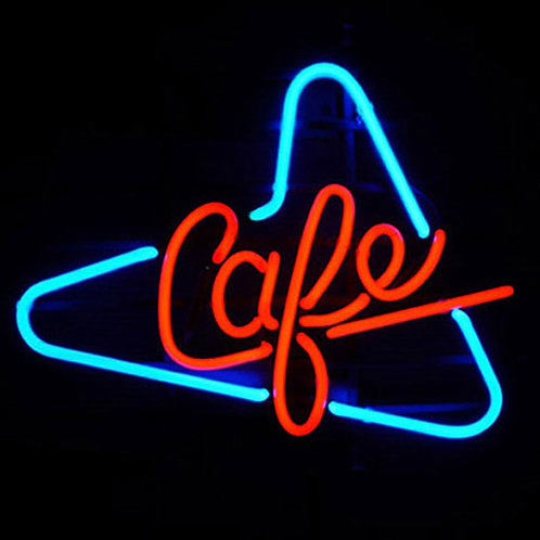 Cafe Triangle Neonwerbung Neonglas Leuchtreklame