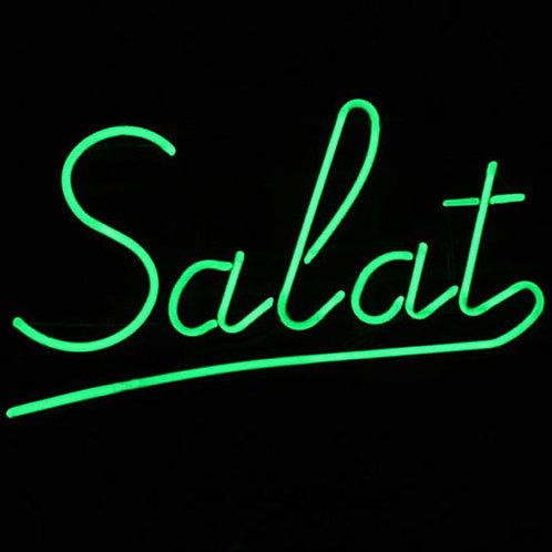Salat Neonreklame Leuchtwerbung