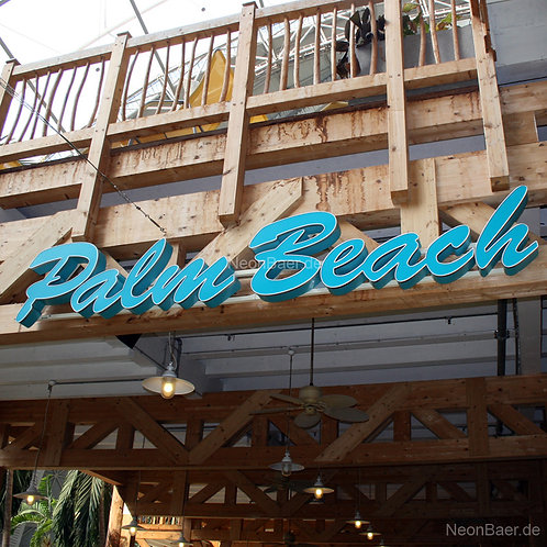 Palm Beach LED-Profilbuchstaben für Tropical-Island