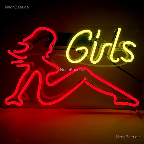 Lady Night Girls Neonglas Leuchtreklame