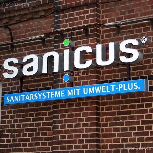 sanicus LED-Leuchtbuchstaben