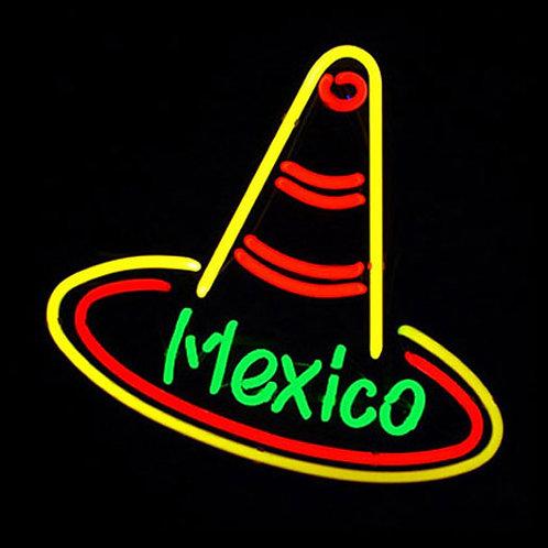 Sombrero Mexico Neon Leuchtreklame