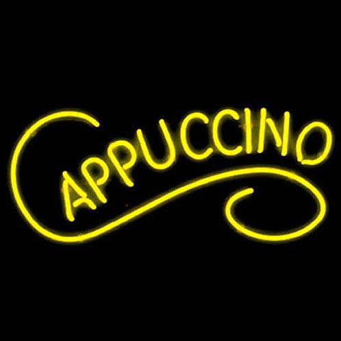 Cappuccino Neonreklame Leuchtwerbung