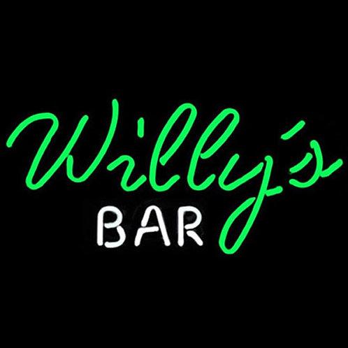 Willys Bar Neonreklame Leuchtreklame