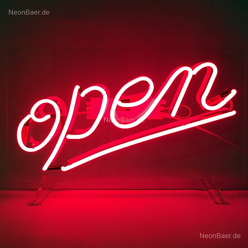 Open Script Neonreklame Leuchtwerbung