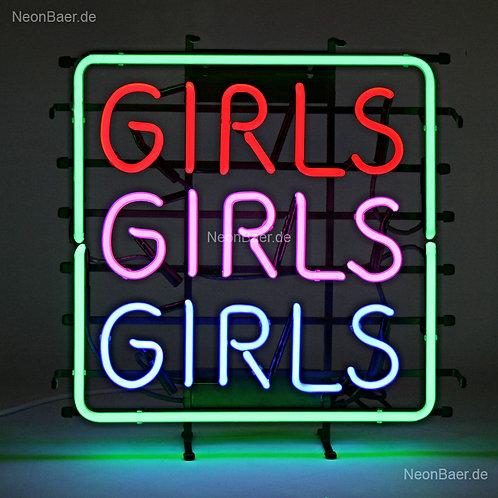 Girls Girls Girls Neonglas Leuchtreklame