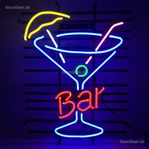 Bar Cocktailglas Neon Leuchtreklame