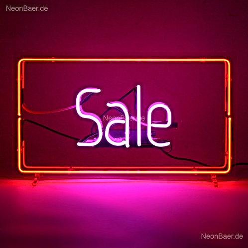 Sale Rahmen Neonreklame Neonglas Leuchtreklame