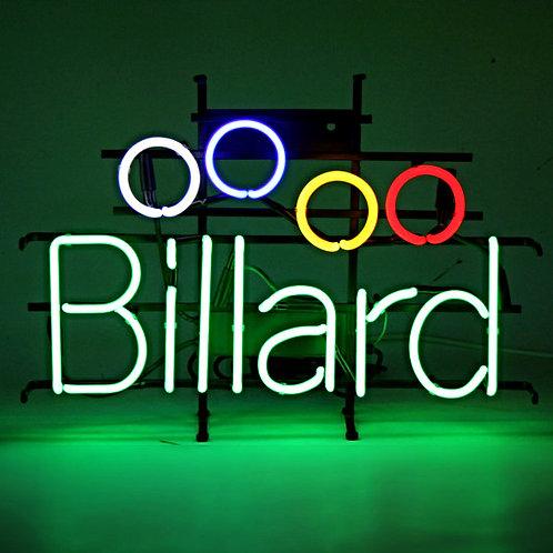 Billard Billardkugeln Neon Neonglas Leuchtreklame