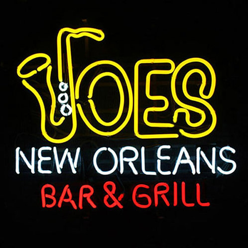 Joes New Orleans Bar & Grill Neonreklame