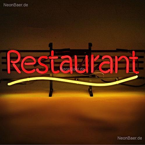 Restaurant Neonreklame Neonglas Leuchtreklame