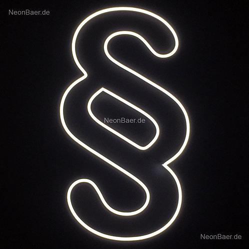Paragraphenzeichen Outline LED-Neon