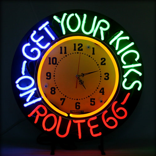 Get Your Kicks On Route 66 Neonuhr