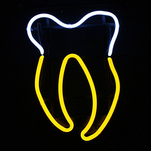 Zahn Zahnarzt Neon Leuchtwerbung