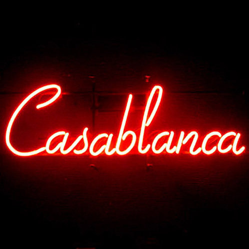 Casablanca Neonwerbung Neonglas Leuchtreklame