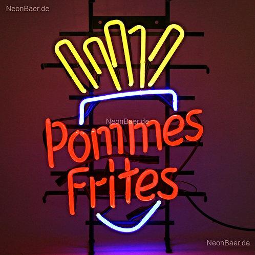 Pommes Frites Neon Leuchtreklame