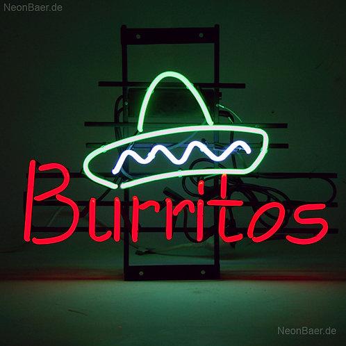 Burritos Sombrero Neonreklame