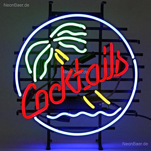 Cocktails Palme Neon Leuchtreklame