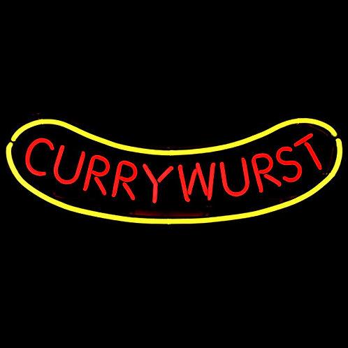 Currywurst Neon Leuchtreklame