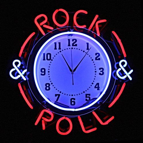 Rock & Roll Musik Neonclock Neonuhr