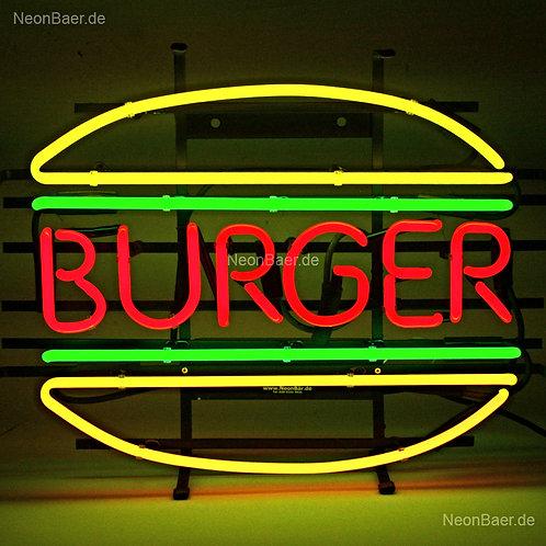 Burger Fastfood Neon Leuchtreklame