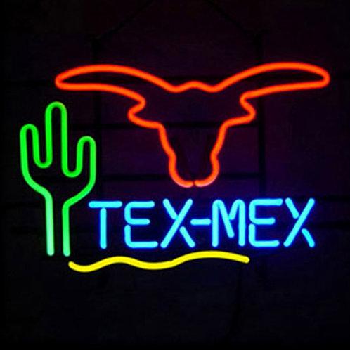 Tex Mex Neonwerbung Neonglas Leuchtreklame