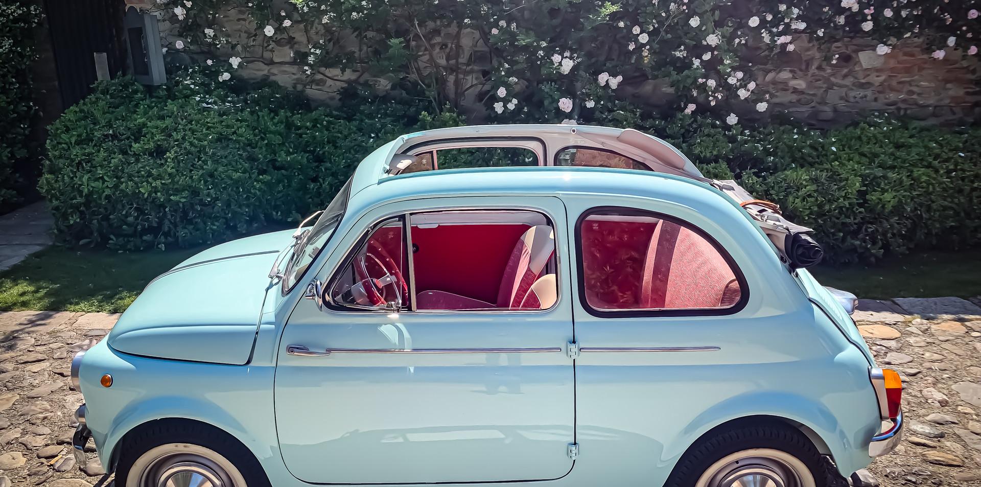 Fiat 500 D Cabrio 1956 Noleggio Auto Epo