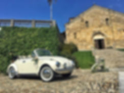 Noleggio Maggiolino cabrio matrimonio mi