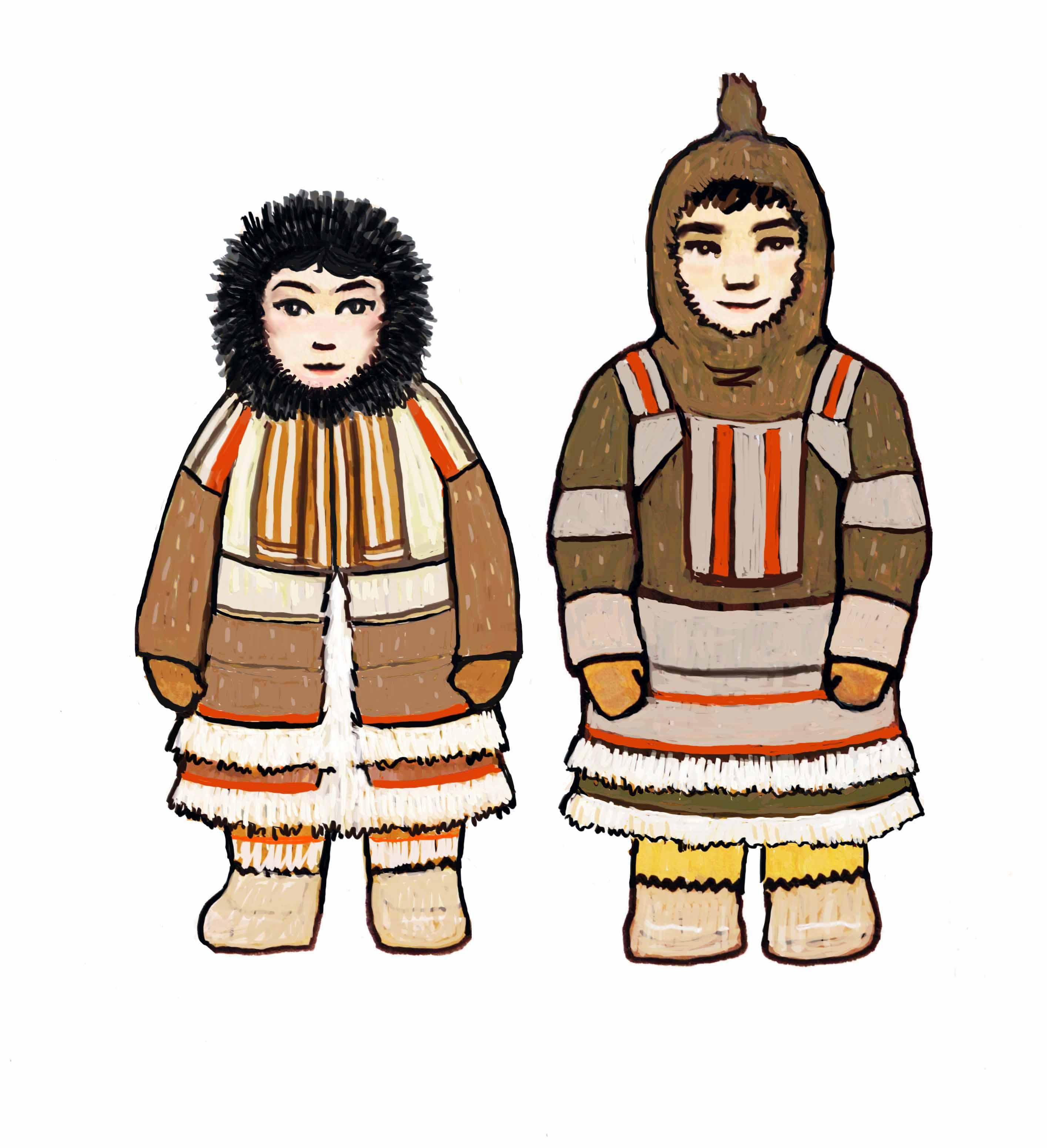 Традиционный костюм народов россии рисунок якутов